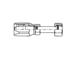 """ZŁĄCZKA 4266 G6(na wąż sr.8mm) - 180st gwint 5/8"""" - 18 - UNF WEW. ORING"""
