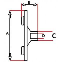 TARCZA ET026 SPRZĘGŁA SPRĘŻARKI SANDEN  SD7H15 - SD7H13 - SD7V12 - SD7V16 / A:105 B:20,5 C:20 D:11