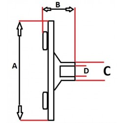 TARCZA ET046 SPRZĘGŁA SPRĘŻARKI DENSO / AUDI - MERCEDES - SEAT - VW / A:85,2 B:27 D:8