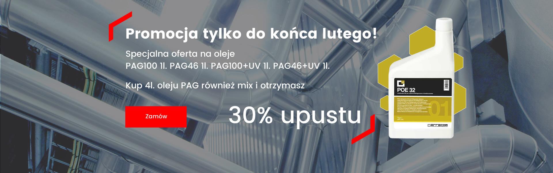 Specjalna oferta na oleje PAG100 1l. PAG46 1l. PAG100+UV 1l. PAG46+UV 1l.